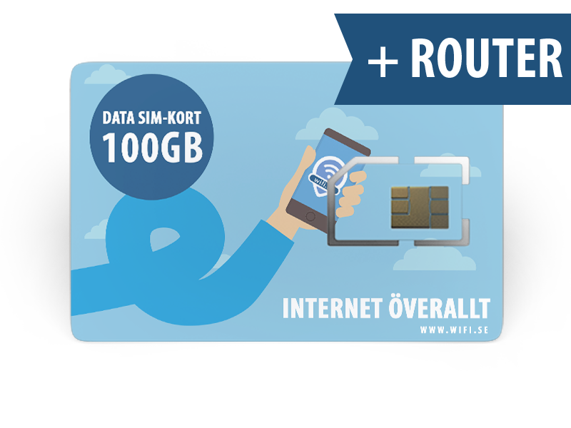 wifi.se - 100 GB DATA MED KONFIGURERAD ROUTER