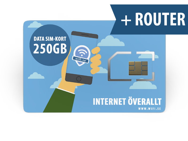 wifi.se - 250 GB DATA MED KONFIGURERAD ROUTER